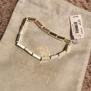 NWT Kendra Scott gold Leon link bracelet
